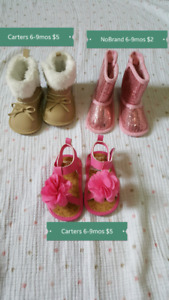 Barely used ceib shoes (6-9mos)