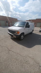 2007 FORD E350 CARGO VAN WITH ROOF RACK