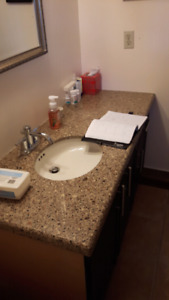 Granite countertop with undermount sink & faucet