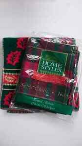 NWT Christmas Table Cloth and Towel