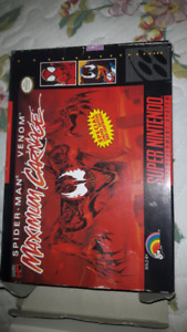 *LIMITED EDITION* Spiderman and Venom Maximum Carnage cartrige