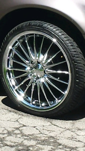 18 inch Mint rims/tires 10 / 10 4 bolt universal fit