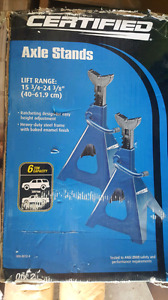 Certified axle stands 6 ton NEW IN BOX