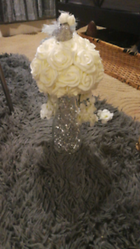Hand made flowers.