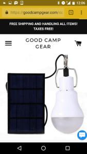 Solar plane USB LED tent home camping garage light
