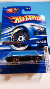 Hot wheels black 69 Camaro convertible faster than ever wheels