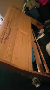 King size solid wood bed frame.