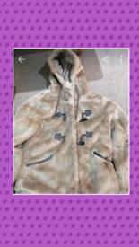 Fluffy winters coat size 12