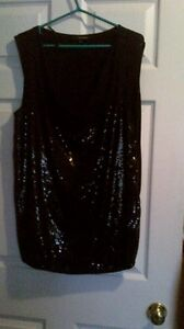 new 2X black with silver sequins