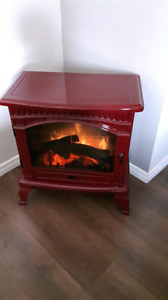 Red fire place
