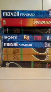 8 eight unopened vhs vcr tapes cassettes