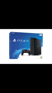 PS4 PRO 1TB LIKE NEW WITH GOD OF WAR GAME
