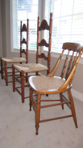 3 Side/Accent Chairs - Solid maple and and Pine