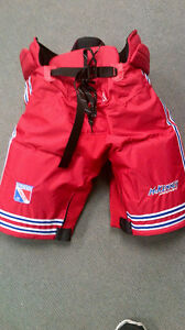 Brand New Mckenney Jr Ranger and Waterloo Wolves Hockey Pant