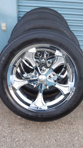 "*** 4 ALL NEW *** 22"" 5x5.5  CHROME  WHEELS & TIRES"