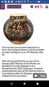 Scentsy stargazer warme, New BBMB in June