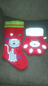 Two Cat Christmas Stockings
