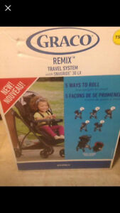 Graco Remix Travel System With Snugride 30 Lx - Brand new in box