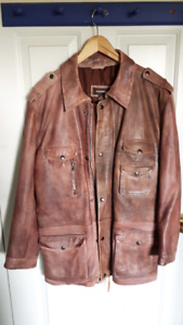 Dernier leather coat