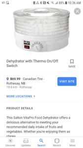 SALTON Food Dehydrator