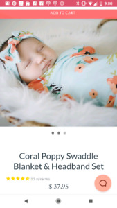 Baby Girl Swaddle from Milkmaids