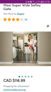 REGALO extra wide extra tall baby gate - adjustable