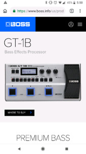BOSS GT-1B Multi-effects Processor