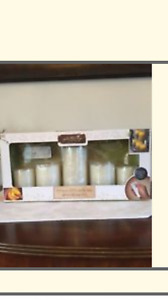 apothecary 5-pc. flameless led candle set with remote and timer
