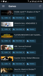 Steam account over 42 popular games REDUCED PRICE!