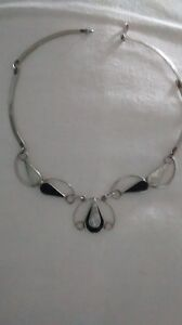 sterling silver choker - one of a kind