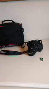 Canon rebel t5i & 18-55mm lens & case