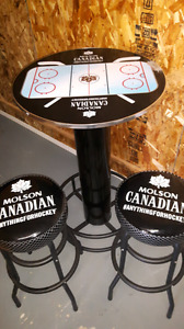 *NEW* Molson Canadian Anything for Hockey Table & Stools