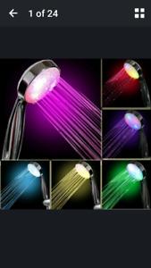 Shower head, led colors