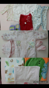 NB to 6M baby girl clothing lot