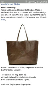 Roots Schlep Bag