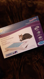 2 New Disposable crystal litter trays