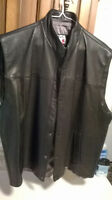 """NEW MEN""S LEATHER XL MOTORCYCLE VEST"""