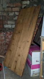 Reclaimed scaffold desk top