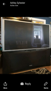 "70"" Big Screen Tube TV For Sale"