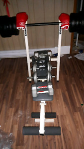 Weight bench and dumbells