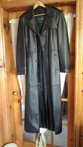 Leather Coat, women's full length with liner, Danier