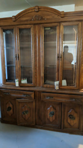 Tall curio cabinet and hutch