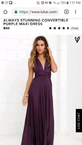 NWT maxi wrap dress from lulus.com