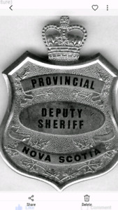 Looking to find old Nova Scotia Sheriff items