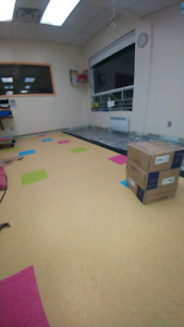 Installation en couvre plancher