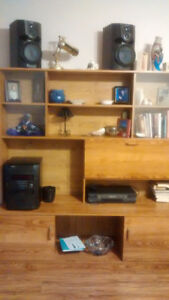 wall unit and china cabinet