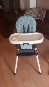 Chaise haute inclinable 2 en 1