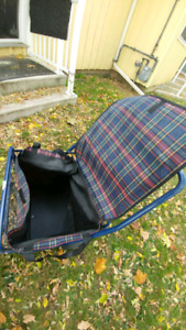 Brand new deluxe shopping cart with heavy duty liner bag