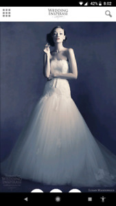 Couture Ivory Strapless Wedding Dress