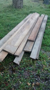 Rough cut lumber 2 inch slabs